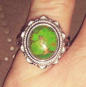 Mojave Green Turquoise Ring